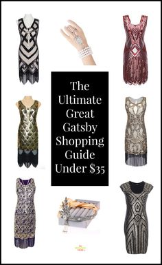 Great Gatsby dresses, accessories and headpieces all under $35. These ideas are…