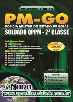 Concurso Polícia Militar Goiás 2012 - Apostila para Soldados 2ª Classe QPPM  (R$45.90)