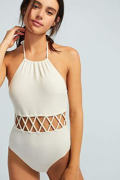 Discover new one-piece swimsuits at Anthropologie. Shop one piece bathing suits from brands like Seafolly, Solid & Striped and more. Swimsuits For Teens, Cute Swimsuits, Women Swimsuits, Halter Swimsuits, Bathing Suits One Piece, One Piece Swimwear, Halter Bikini, Bikini Swimwear, Bikini Beach