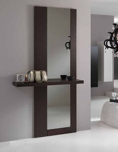 Modern Mirror Design for Living Room. Modern Mirror Design for Living Room. 15 Fascinating and Exceptional Modern Mirror Designs Hall Furniture, Home Decor Furniture, Hallway Decorating, Entryway Decor, Wall Decor, Entryway Mirror, Foyer, Modern Mirror Design, Modern Wall