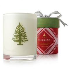 Thymes - Frasier Fir - Holiday Wood Wick Candle - $40.00 - The Beadcage - Jewelry & Gift
