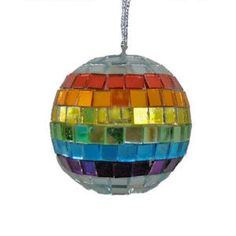"""AS GAY AS CHRISTMAS - Nothing says """"celebrate the holidays"""" quite like rainbow disco balls on your Christmas tree!"""