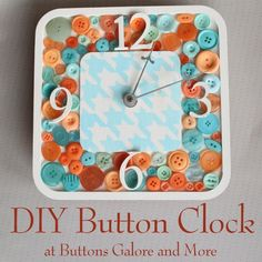 An easy DIY button clock that anyone can make themselves. Get the step by step instructions for making your own today with buttons galore, walnut hollow wood , stencil and decoart paint.
