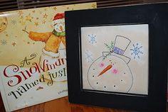 A Creative Day: Snowman Stitching