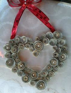 Valentine's Day Book Page Flower Wreath by hercraftyworld on Etsy, $18.00