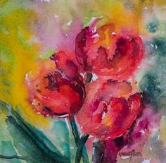 """In Bloom"" watercolour by Angela Fehr"
