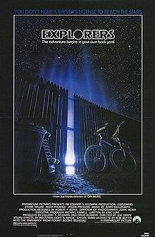 Explorers is a 1985 family-oriented science-fiction fantasy film written by Eric Luke and directed by Joe Dante. It was the first feature film for both Ethan Hawke and River Phoenix.  The special effects in the movie were produced by Industrial Light & Magic, with makeup effects by Rob Bottin.
