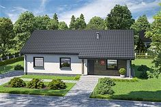 Projekt domu Endo 113,29 m2 - koszt budowy - EXTRADOM Two Bedroom House, Home Fashion, House Plans, Pergola, Cabin, House Design, Mansions, House Styles, Outdoor Decor