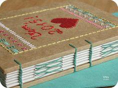 Sketchbook Vem, 2015! | handmade book with embroidered cover by vem studio