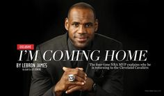 The Return: LeBron James to rejoin Cleveland Cavaliers  - http://www.allvoices.com/contributed-news/17446432-the-return-lebron-james-to-rejoin-cleveland-cavaliers