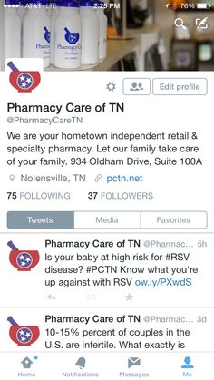 Pharmacy Care of Tennessee - Pharmacy Care of Tennessee Specialty Pharmacy, Your Family, Take Care Of Yourself, Tennessee, Let It Be, Twitter