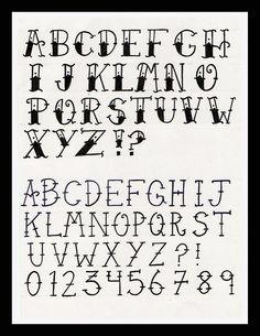 typographie alphabet - Lilo