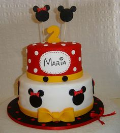 Mickey and Minnie style cake