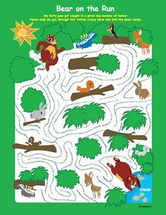 Printable Spring Games: Bear Maze Game | Spoonful