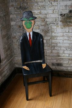 @Ashley Walters Beck The Son of Man - Famous Paintings in Chair Form