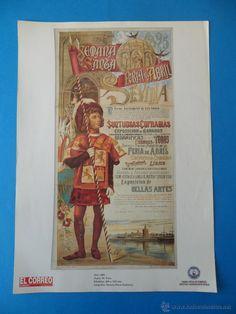 Lámina de Antiguo cartel anunciador de las Fiestas de Primavera. Sevilla 1895 - Foto 1