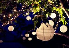 Gartenparty-Deko-Laterne-Papier-basteln-Ideen - The most beautiful garden decor Garden Party Decorations, Light Decorations, Most Beautiful Gardens, Amazing Gardens, Evening Garden Parties, Rooftop Party, Rooftop Garden, Garden Birthday, Party Lights