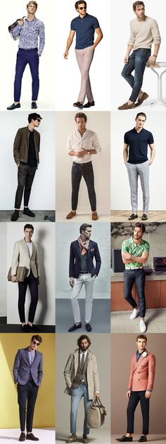 Casual looks: What to Wear, Male wardrobe, model portfolio photoshoot, Men's Sockless Outfits - Slim and Tapered Jeans, Chinos and Trousers Male Models Poses, Male Poses, Mens Photoshoot Poses, Foto Casual, Casual Wear For Men, Look Man, Photography Poses For Men, Posing Guide, Fashion Poses