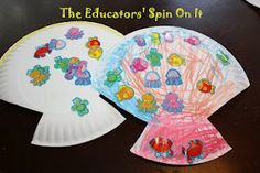 "paper plate shells - ""A House for Hermit Crab"" by Eric Carle {theeducatorsspinonit}"