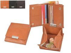 Sonnenleder WIENFLUSS K - Leder Portemonnaie (8KF) Wiener Schachtel Münzbox Geldbörse - 3 Farben
