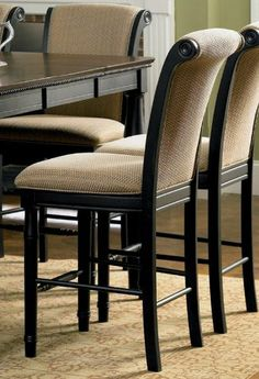 """Set of 2 24""""H Counter Height Stools with Rolled Top Cappuccino Finish by Coaster Home Furnishings, http://www.amazon.com/dp/B002X3HVR2/ref=cm_sw_r_pi_dp_VAsrrb0GSPP1W"""