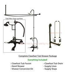 40 Best Clawfoot Tub Shower Images Bathroom Bathroom Ideas