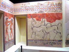 Fresco  de los Antílopes de Akrotiri, isla de Thera (mayor repertorio de pinturas hallado después de Cnosos).