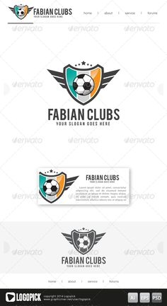 Football Club Logo 03 is 100 editable and resizeable vectors!Well organized file, All colors and text can be modified.Font: see