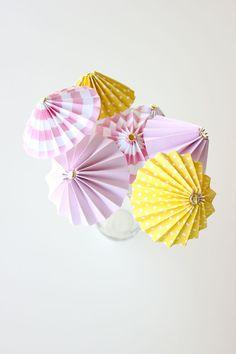 Diy Drink Umbrellas Made From Sbook Paper Delia Creates