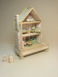 Doll's Dollhouse Cottage Playroom Toy 144 antique style 10