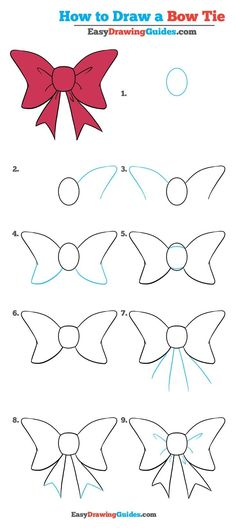 Learn How to Draw a Bow Tie: Easy Step-by-Step Drawing Tutorial for Kids and Beginners. #BowTie #drawingtutorial #easydrawing See the full tutorial at https://easydrawingguides.com/draw-bow-tie-really-easy-drawing-tutorial/.