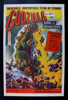 Godzilla.  Big Monster with a Big Angry Attitude towards Japan.  But maybe he is just misunderstood. hmmmmm