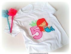 Camiseta ou body - Pequena Sereia