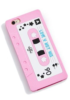 """Valfré Love U Not Mixtape 6/6  iPhone Case j/k, you suck! Pass da shade with this fun iPhone case featuring a very protective silicone in the shape of a og cassette tape. With pink glitter all over and entitled """"Love U Not Mix"""" this bb isn't playing with ya."""