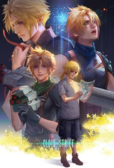 Final Fantasy Cloud, Final Fantasy Vii Remake, Final Fantasy Artwork, Fantasy Series, Cloud And Tifa, Cloud Strife, Fan Yang, Manga, Final Fantasy Collection