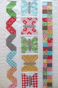 really like the butterfly blocks.   They could be a really cute border for a baby quilt.