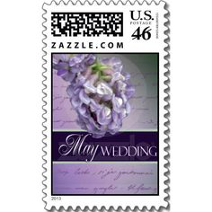 May Lilac wedding flower Stamps  Repinned by Annie @ www.perfectpostage.com
