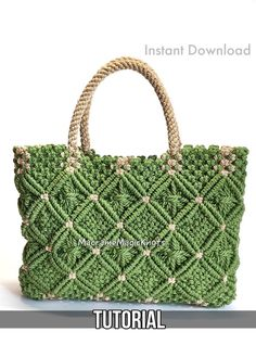 Discover thousands of images about Macrame Bag Tutorial Macrame Bag Pattern Macrame Bag Kit Diy Projects Etsy, Macrame Projects, Crochet Projects, Bag Crochet, Crochet Handbags, Crochet Purses, Macrame Purse, Macrame Knots, Micro Macramé