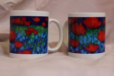 New idea ... my paintings on mugs...
