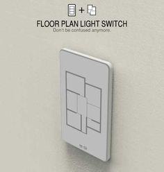Floor plan light switch—simple genius!
