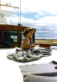 Little Caroline Kennedy aboard Honey Fitz, 1963.