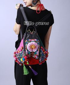 278225bf012 Folk style embroidery of the Miao nationality embroidery Messenger Bag  canvas craft kits Shoulder bag