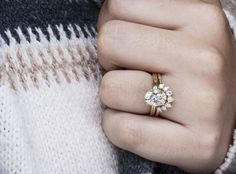 Oval Diamond Engagement Ring in Yellow Gold