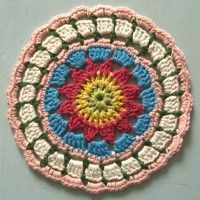 Crochet Mandala Wheel made by Linda, Austria, for yarndale.co.uk