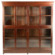 British Colonial bookcase made from teak wood from Burma circa 1900