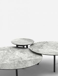 """""""Groove"""" Side Tables by Alain Gilles"""