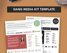 Elegant Blog Media Kit Template Press Kit  Pages  Media Kit