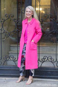 Pink winter coat | 40plusstyle.com