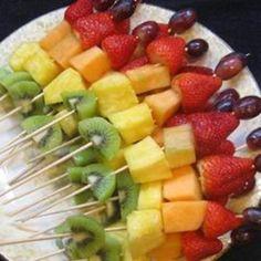 Idée pour l'été: brochette de fruits