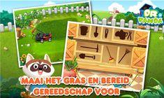dr Panda moestuin, thema tuincentrum voor kleuters, kleuteridee.nl, leuke androïd app. De kinderen leren zaaien, water geven, spitten, oogsten enz.